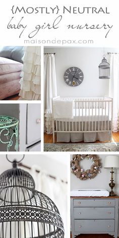 Gorgeous, subtle, mostly neutral nursery with touches of French and farmhouse charm at http://maisondepax.com