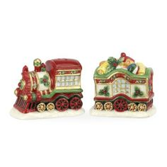 Spode Christmas Tree Salt and Pepper Shakers Train Set, 3.25-Inch by Portmeirion USA. $20.00. Beautifully gift boxed. Decoration includes spode's iconic christmas tree. New for 2012. Guaranteed against manufacturer defects. Made of highest quality earthenware. Spode Christmas Tree has graced table's all over the world since 1938. The pattern feature's a green banded traditional Christmas tree design. Each year this beautifully classic pattern adds many new dinnerware, accessorie...