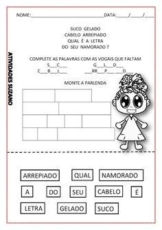 ALFABETIZAÇÃO/ SUCO GELADO - Atividades Adriana