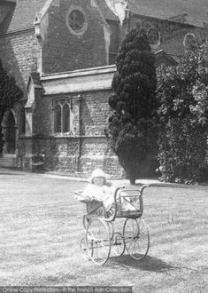 #Weybridge, #Pram 1904. Part of The Francis Frith Collection of historic photographs of Britain. Free to browse online today. Your nostalgic journey has begun.#francisfrith Belle Epoque, Art Nouveau, Vintage Pram, Prams And Pushchairs, Edwardian Era, Vintage Images, Kids And Parenting, Alter, Strollers