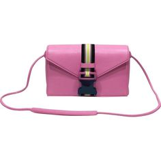 Pre-owned Christopher Kane Leather Crossbody Bag ($497) ❤ liked on Polyvore featuring bags, handbags, shoulder bags, pink, women bags handbags, crossbody handbag, white leather crossbody, white leather shoulder bag, handbags crossbody and man shoulder bag