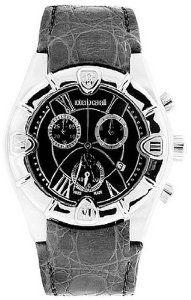 Roberto Cavalli Unisex Diamond Chronograph Watch R7251616155 with Grey Dial, Crocodile Strap and Stainless Steel Case Roberto Cavalli. $269.00