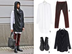 1. Long Shirt available at http://shop.anothamista.com/product/boxy-long-shirt 2. Red Pants available at http://shop.anothamista.com/product/washed-pants 3. Leather Boots available at http://shop.anothamista.com/product/washed-pants 4. Detachable Sleeves Hoodie available at http://shop.anothamista.com/product/detachable-sleeve-jumper