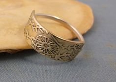 brass beach ring  ocean ring  coral ring  by kristinlarsonjewelry