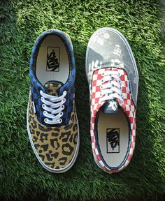 NEW Van Doren Era. Leopard Checker x Aloha Checker.