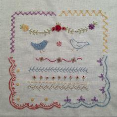 샘플러  #자수 #embroidery #embroiderysampler - @embroidery_panda- #webstagram