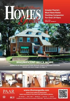 Find Peoria, IL and surrounding areas real estate for sale in this new issue of the Homes Guide! #Peoria #IL #realestate #homesforsale