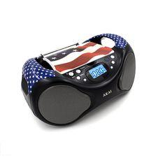 Akai CD BoomBox FM Radio-USA
