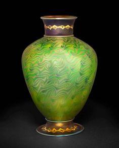 Tiffany Favrile Glass | The Huntington Tiffany Art, Tiffany Glass, Tiffany Jewelry, Antique Glass, Antique Art, Art Nouveau, Vases, Louis Comfort Tiffany, Art Of Glass