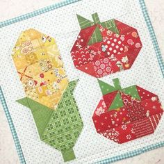 Bee In My Bonnet: Farm Girl Friday - Week 19 - New Farm Girl Vintage Flowers Pattern!!! Cute Quilts, Small Quilts, Mini Quilts, Baby Quilts, Paper Piecing Patterns, Quilt Block Patterns, Quilt Blocks, Patchwork Quilt, Scrappy Quilts