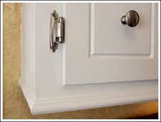 add molding to the bottom of your cabinet