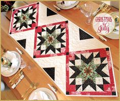 Downton Abbey Christmas Star Table Runner: Christmas in July with Fabric Depot | Sew4Home