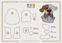 cute felt dog pattern great for charm on bag Felt Animal Patterns, Stuffed Animal Patterns, Dog Crafts, Felt Crafts, Dog Template, Felt Dogs, Felt Christmas Ornaments, Dog Pattern, Felt Animals