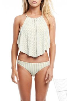 Tan Line Tankini/ worn with the crotchet shorts★