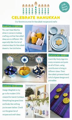 Places to go for Hanukkah how-to's!
