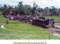 Unit Name: C Troop, 1/1st Cav. Danang   Base Name: Danang, Vietnam  Muddy mess