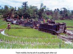 Unit Name: C Troop, 1/1st Cav. Danang   Base Name: Danang, Vietnam  Muddy mess