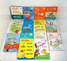 Lot of 18 DR. SEUSS Beginner Books & Bright and Early Hardcover Books