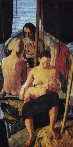 Donne in barca, 1933-1934 - Felice Casorati (Italian, 1886-1963)