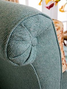 So wish I was clever enough to do this! upholstered chair and headboard step-by-step