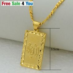 Prophet-mohammed-allah-Chain-pendant-necklace-gold-jewelry-muslim-Islamic-arab