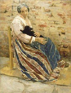 Max Liebermann - An Old Woman with Cat fine art preproduction . Explore our collection of Max Liebermann fine art prints, giclees, posters and hand crafted canvas products Canvas Art Prints, Painting Prints, Oil On Canvas, Artwork Paintings, Cat Art Print, Getty Museum, Portraits, Antique Art, Oeuvre D'art