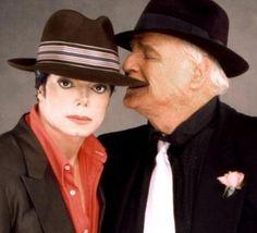 Michael Jackson and Marlon Brando on the set of You Rock My World (2001).