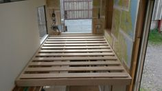 Bed frame done all we need now is a clever pulley system to winch out it up to the ceiling!
