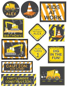 Welcome to Busy bees Happenings  Show off your birthday theme with this construction birthday banner! With this banner, your party zone will really start to look like a construction zone!   Banner measures 36 inches wide and 12 inches in height. This is a digital file. This listing is for the construction rectangular banner listed above ONLY. All other items are sold separately.  DONT FORGET to check out the CONSTRUCTION SECTION of my store for decorations, thank you cards, invitations, etc…