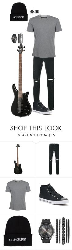 """""""IHeartFestival Perform - Josh"""" by elayna-jones-jees on Polyvore featuring RtA, Brunello Cucinelli, Converse, Nasaseasons, Bling Jewelry, men's fashion and menswear"""