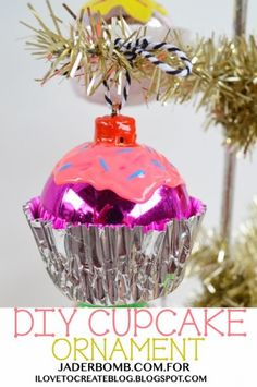 Make Cupcake Christmas Ornaments