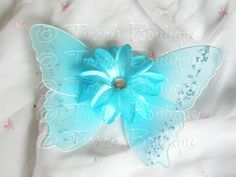 Aqua Blue Baby Butterfly Wings - Infant Fairy Wings for Halloween - newborn to 12 months - Photo Prop - Prop for Newborn Photography