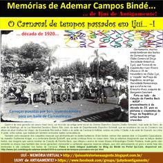 IJUÍ - RS - Memória Virtual: O Carnaval de Ijuhy de Antigamente - parte I