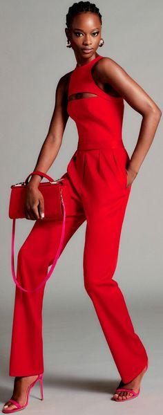 Red Fashion, Fashion Week, Fashion 2020, Look Fashion, Runway Fashion, Spring Fashion, High Fashion, Fashion Show, Fashion Outfits