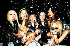 Friends Glitter Confetti Fashion Los Angeles Birthday