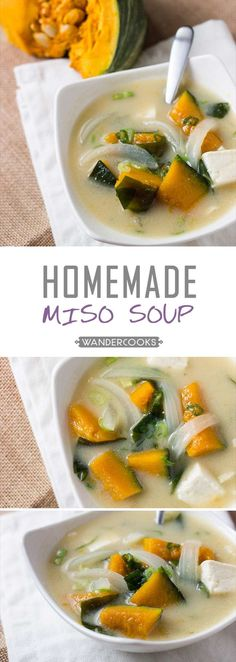 Move aside Ramen, this homemade Chunky Pumpkin Miso Soup is ready to warm you up. The benefits of miso are HUGE. With dashi, tofu and pumpkin - you're set.