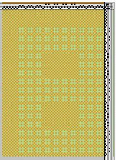 Finn lace weaving draft