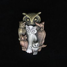 Owl Brooch Owl Jewelry Owl Pin by PINSwithPERSONALITY on Etsy