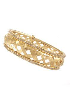 be1f40f5d751 Yossi Harari oro amarillo y pulsera brazalete de diamantes Bangle  Bracelets