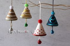 Get the tutorial on how to make some easy and quick Christmas Trees Ornaments to hang on the tree and add more festive feel for this holy season.