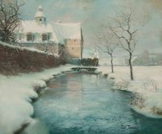 Winter by Frits Thaulow