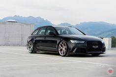Take a look at the Black Audi on Contrasting Custom Wheels photos and go back to customizing your vehicle with renewed passion. Jetta Wagon, Audi Wagon, Wagon Cars, Audi A6 Rs, Audi S6, Audi Sedan, Allroad Audi, Audi Sports Car, Used Luxury Cars