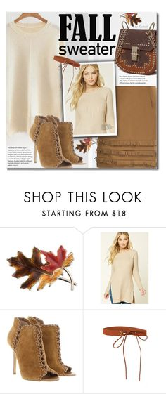 """Cozy Fall Sweaters"" by beebeely-look ❤ liked on Polyvore featuring Anne Klein, Forever 21, Michael Kors, sammydress, streetwear, suedeskirt, falltrend and fallsweaters"