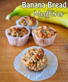 Healthy Banana Bread Muffins Recipe - I love healthy muffins!