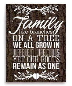 Brown Family Roots Wood Wall Art