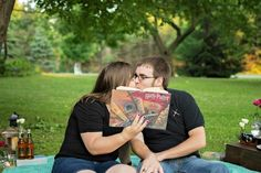 Harry Potter themed engagement session | Wisconsin engagement photos | Wisconsin…