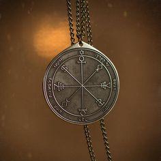 Goetia Sixth Pentacle of the Moon Solomon kabbalah amulet