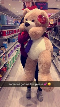 Want dis desperately 😋💙 Huge Teddy Bears, Giant Teddy Bear, Crazy Girls, Cute Girls, Teady Bear, Teddy Girl, Teddy Bear Pictures, Bear Wallpaper, Girly Pictures