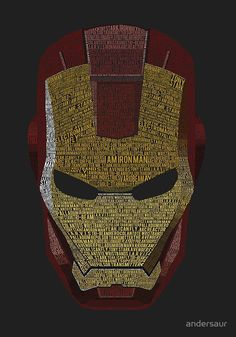 """""""Iron Man Typography Art (Deep Grey)"""" Posters by andersaur. """"Iron Man Typography Art (Deep Grey)"""" Posters by andersaur. Marvel Comic Universe, Marvel Dc Comics, Marvel Heroes, Marvel Avengers, Poster Marvel, Spiderman Marvel, Comics Universe, Marvel Films, Marvel Cinematic"""