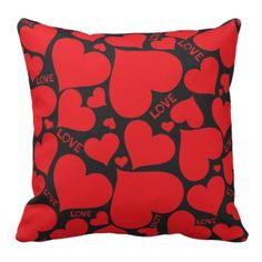 Love Pillows (Red & Black)
